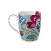 small fantasy blue mug