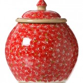 Lawn Red Cookie Jar