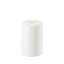 Uyuni LED Pillar Candle 15cm - White