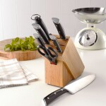 Denby 7 Piece Bamboo Knife Block Set