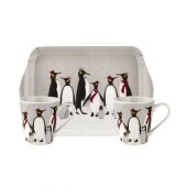 Penguin mug and tray