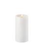 Uyuni LED Pillar Candle (with shoulder) 15cm - White